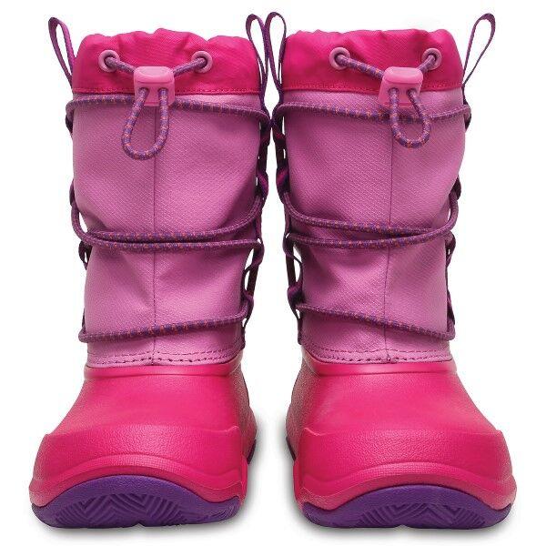 Crocs Swiftwater Waterproof Boot Kids - Pink * Kampanja *  - Size: 204657 - Color: roosa