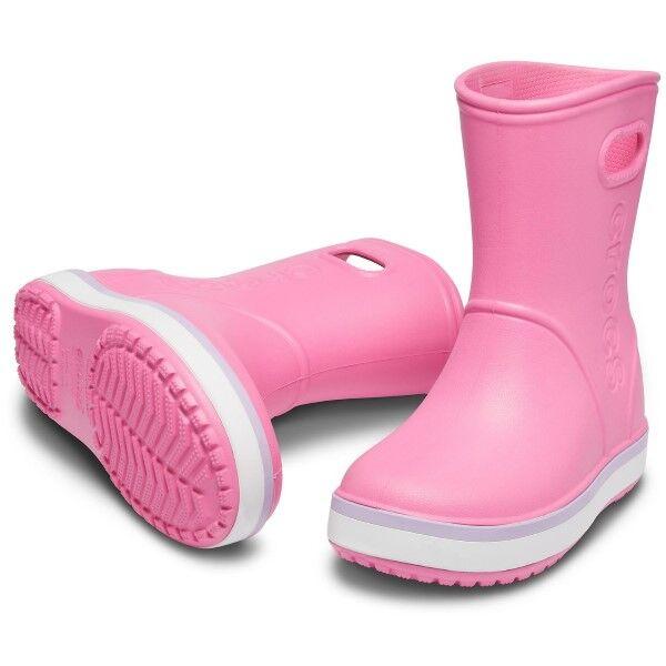 Crocs Crocband Kids Rain Boot - Lightpink  - Size: 205827 - Color: vaalea roosa