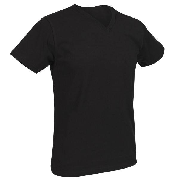 Salming No Nonsense M V-neck T-shirt 850135 - Black  - Size: 850135 020 S - Color: musta