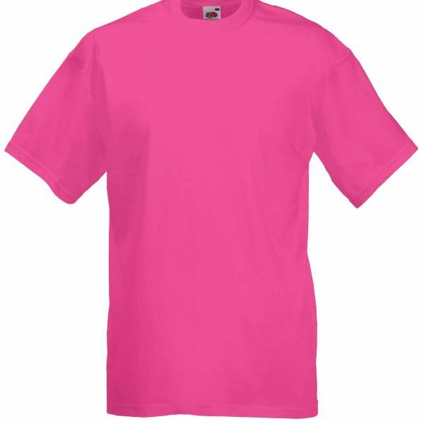 Fruit of the Loom Valueweight Crew Neck T - Fuchsia