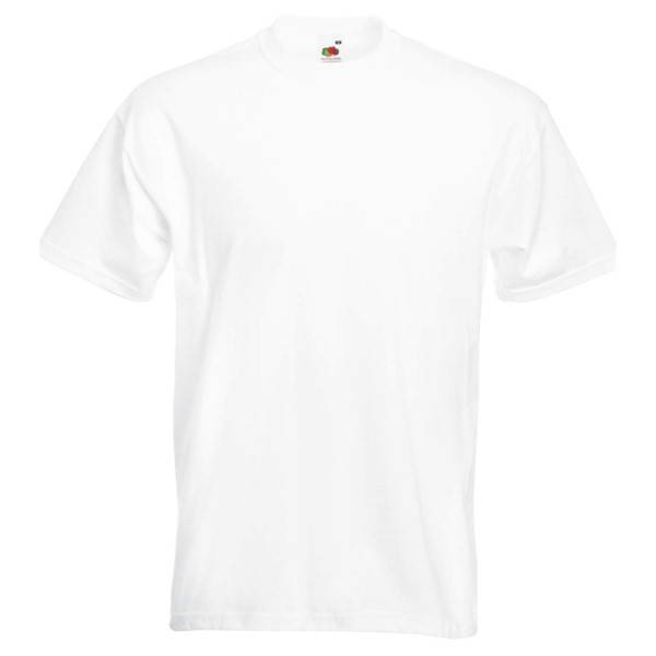Fruit of the Loom Valueweight Crew Neck T - White