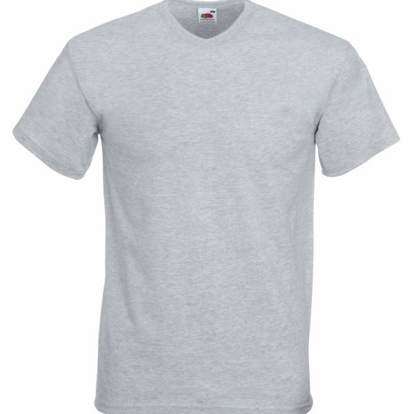 Fruit of the Loom Valueweight V-neck T - Greymarl