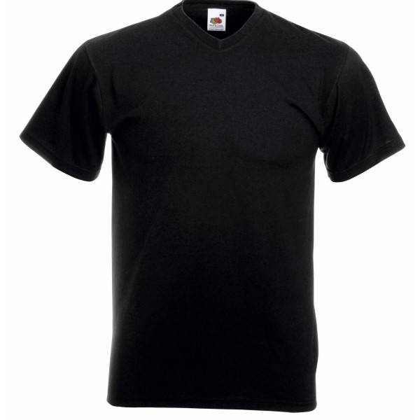 Fruit of the Loom Valueweight V-neck T - Black
