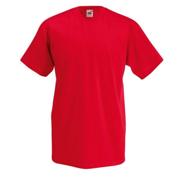Fruit of the Loom Valueweight V-neck T - Red