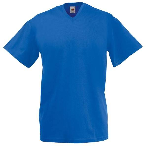 Fruit of the Loom Valueweight V-neck T - Royalblue