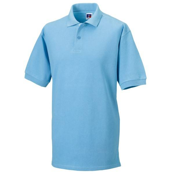 Russell Athletic M Classic Cotton Polo - Skyblue  - Size: 569M - Color: taivaansininen