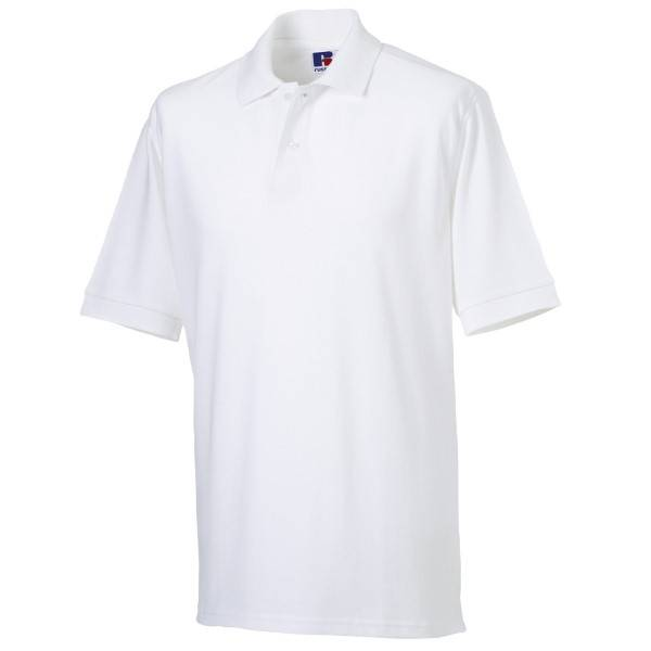 Russell Athletic M Classic Cotton Polo - White  - Size: 569M - Color: valkoinen