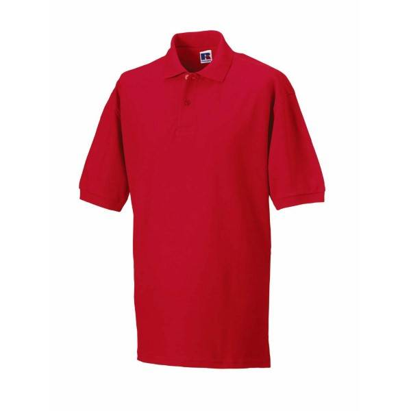 Russell Athletic M Classic Cotton Polo - Red  - Size: 569M - Color: punainen