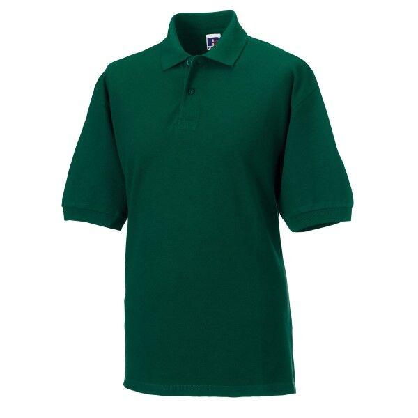 Russell Athletic M Classic Cotton Polo - Darkgreen  - Size: 569M - Color: tummanvihr.