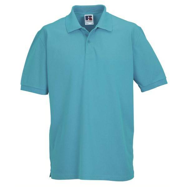 Russell Athletic M Classic Cotton Polo - Turquoise  - Size: 569M - Color: Turkoosi