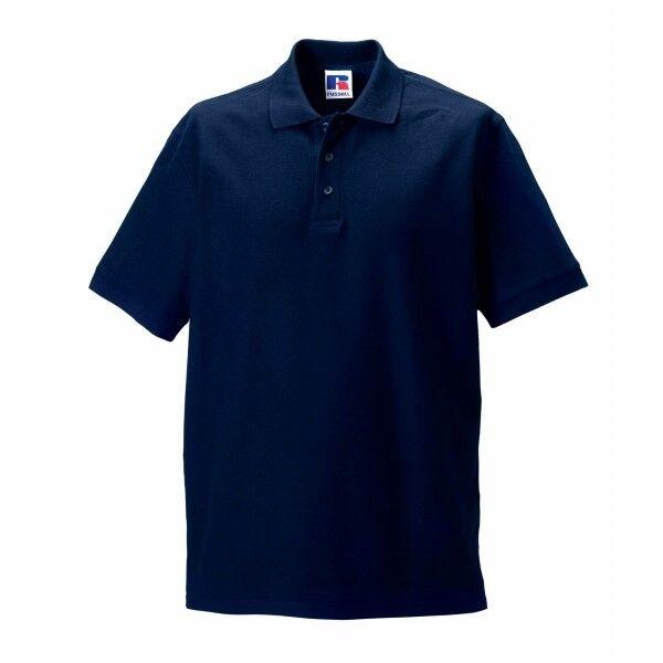 Russell Athletic M 100% Cotton Durable Polo - Darkblue  - Size: 577M - Color: tummansin.