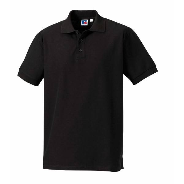Russell Athletic M 100% Cotton Durable Polo - Black  - Size: 577M - Color: musta