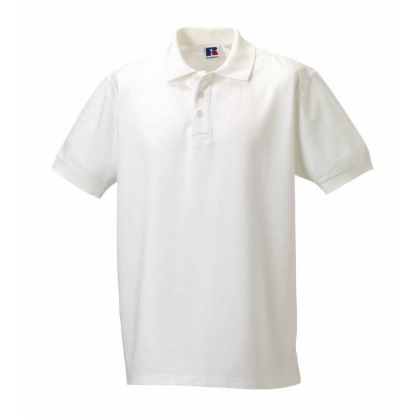 Russell Athletic M 100% Cotton Durable Polo - White  - Size: 577M - Color: valkoinen