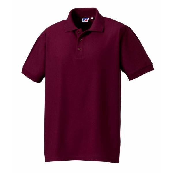 Russell Athletic M 100% Cotton Durable Polo - Wine red  - Size: 577M - Color: viininpun.