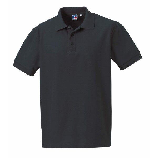 Russell Athletic M 100% Cotton Durable Polo - Darkgrey  - Size: 577M - Color: tummanharm