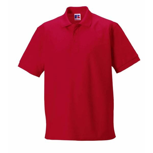 Russell Athletic M 100% Cotton Durable Polo - Red  - Size: 577M - Color: punainen