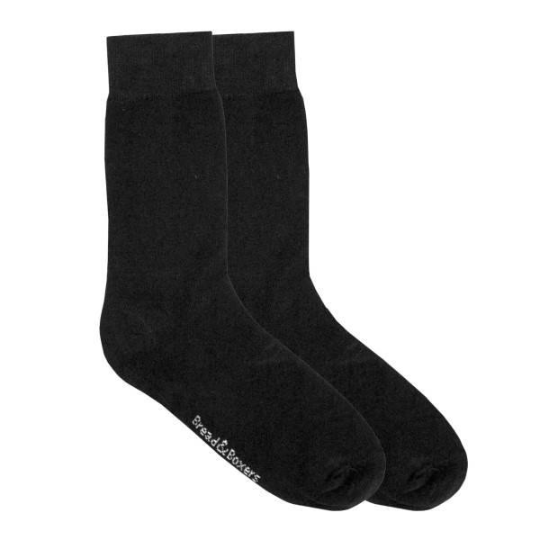 Bread & Boxers Bread and Boxers Socks 2 pakkaus - Black  - Size: 301302 - Color: musta