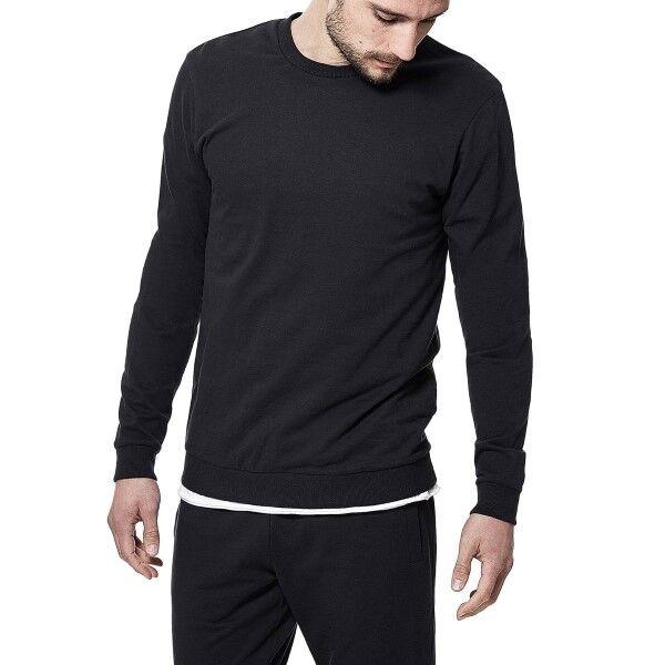Bread & Boxers Bread and Boxers Sweatshirt - Black  - Size: 414202 - Color: musta