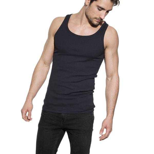 Bread & Boxers Bread and Boxers Tank Ribbed - Darkblue