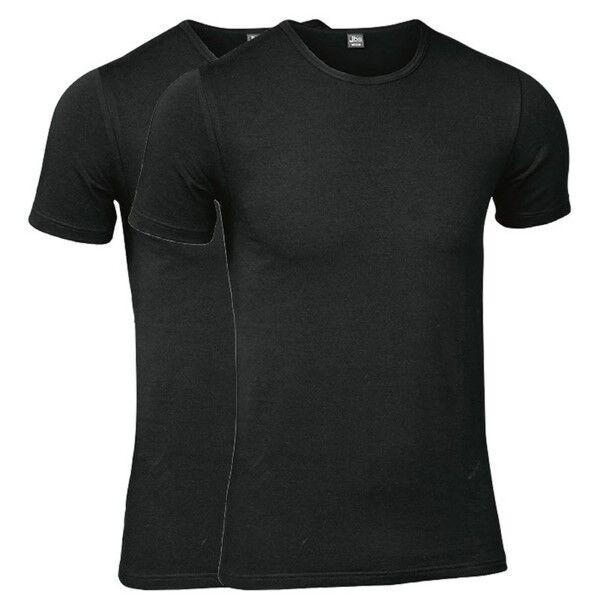 JBS 2 pakkaus Modern T-shirt O-neck - Black