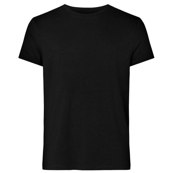 Resteröds Original R-Neck Tee - Black  - Size: 7020-02 - Color: musta