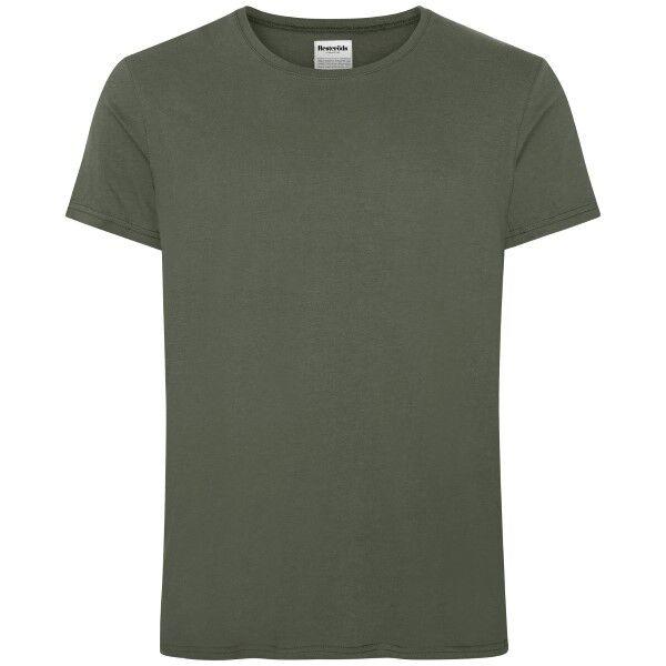 Resteröds Original R-Neck Tee - Khaki  - Size: 7020-2 - Color: Khaki