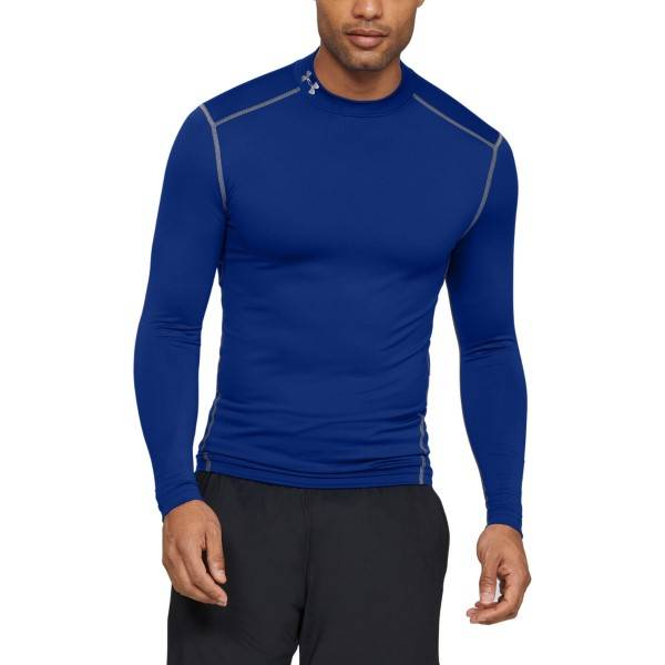 Under Armour ColdGear Armour Compression Mock - Royalblue  - Size: 1265648-400 - Color: royalsininen