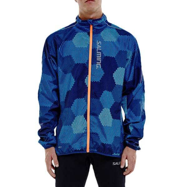 Salming Ultralite Jacket Men 2.0 - Blue Pattern  - Size: 1277649 - Color: Sininen kuvioi
