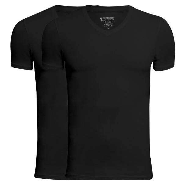 JBS 2 pakkaus Bamboo V-neck T-shirt - Black