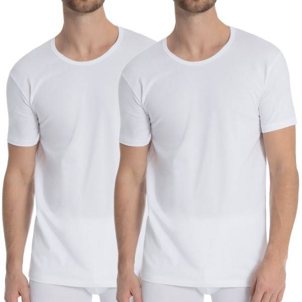 Calida 2 pakkaus Natural Benefit T-shirt - White