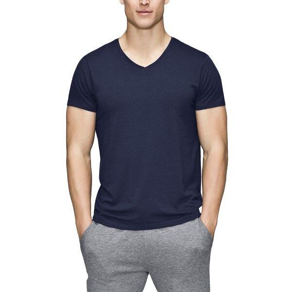 JBS of Denmark Bamboo Blend V-neck T-shirt - Darkblue