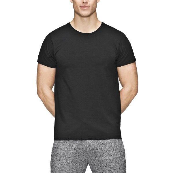 JBS of Denmark Organic Cotton O-neck Basic T-shirt - Black  - Size: 121-02 - Color: musta