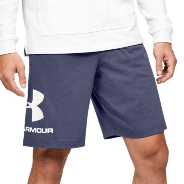 Under Armour Sportstyle Cotton Graphic Shorts - Darkblue  - Size: 1329300 - Color: tummansin.