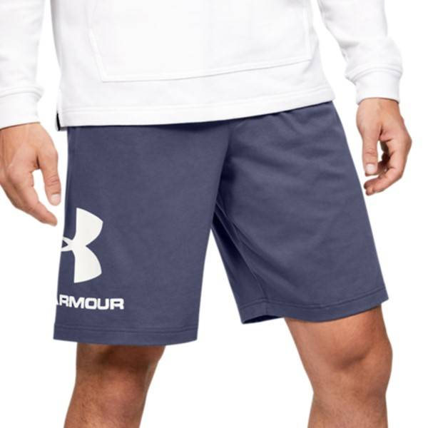 Under Armour Sportstyle Cotton Graphic Shorts - Darkblue  - Size: 1329300 - Color: tummansin.