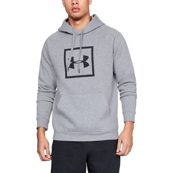 Under Armour Rival Fleece Logo Hoodie - Grey * Kampanja *  - Size: 1329745 - Color: harmaa
