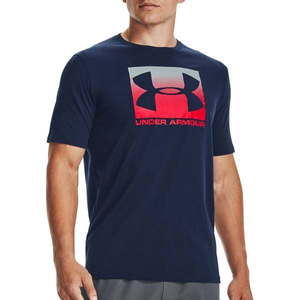 Under Armour Boxed Sportstyle Short Sleeve T-shirt - Darkblue  - Size: 1329581 - Color: tummansin.