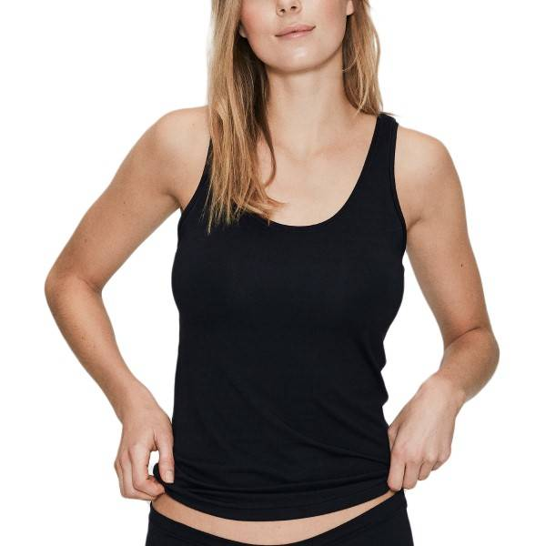 JBS of Denmark Bamboo Top Wide Straps - Black  - Size: 1230-1 - Color: musta