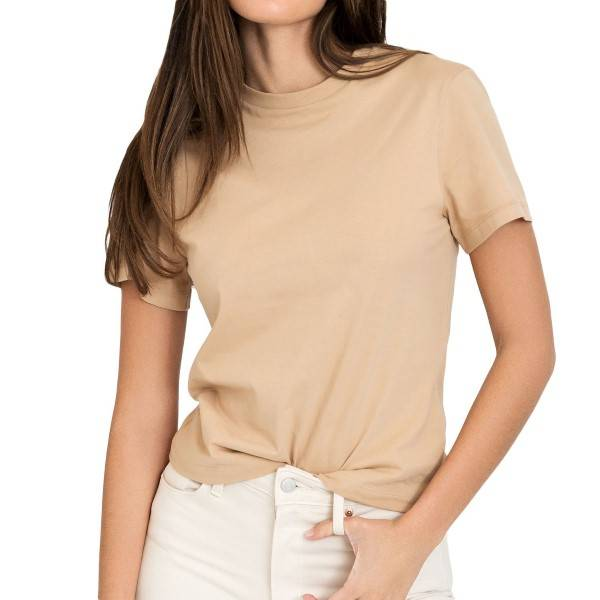 Bread & Boxers Bread and Boxers T-Shirt Classic By Biderman - Beige  - Size: 634305 - Color: Beige