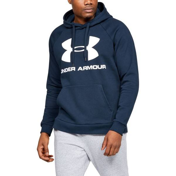 Under Armour Rival Fleece Sportstyle Logo Hoodie - Darkblue * Kampanja *  - Size: 1345628 - Color: tummansin.