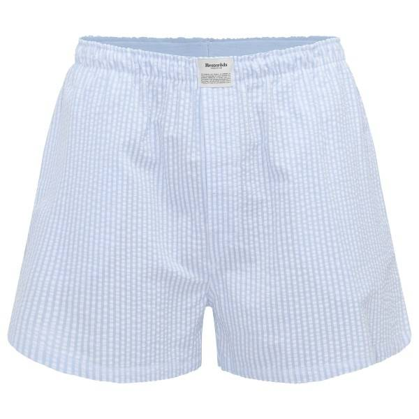 Resteröds Woven Pyjama Shorts - Lt blue Stripe  - Size: 7997-41 - Color: Vaaleansininen raidallinen