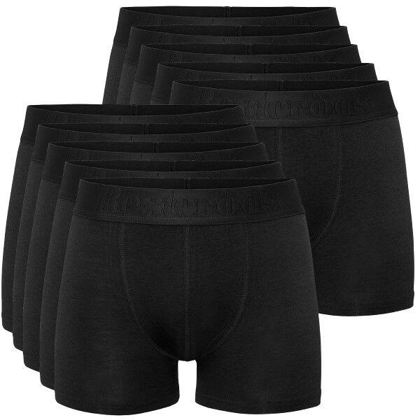 Resteröds 10 pakkaus Cotton Stretch Boxers - Black * Kampanja *  - Size: 97905 - Color: musta