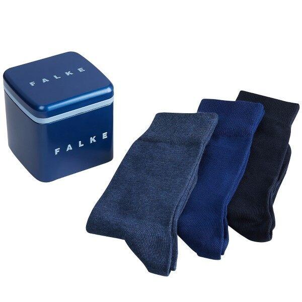 Falke 3 pakkaus Happy Socks Gift Box - Navy/Blue  - Size: 13042 - Color: laiv.sin/sin