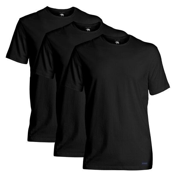 Ted Baker 3 pakkaus 24 7 Basics Crewneck T-Shirt - Black  - Size: 170447 - Color: musta