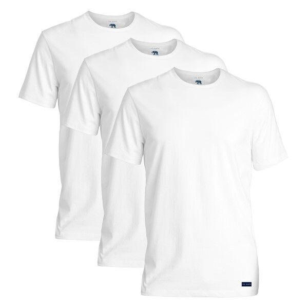 Ted Baker 3 pakkaus 24 7 Basics Crewneck T-Shirt - White  - Size: 170447 - Color: valkoinen