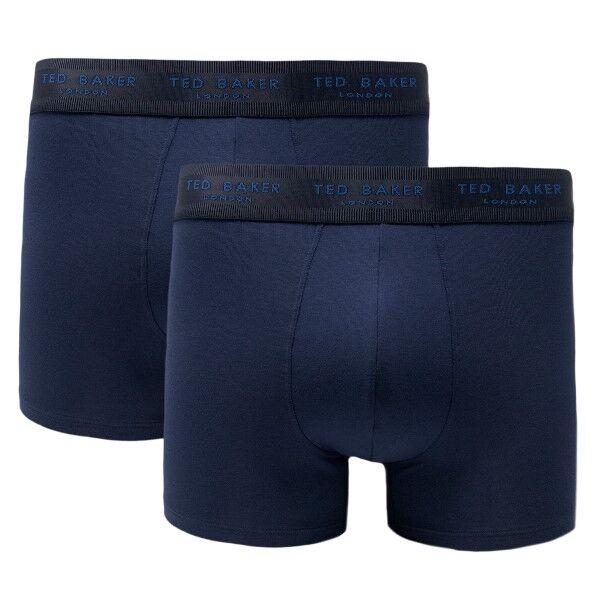 Ted Baker 2 pakkaus Modal Basics Trunks - Navy-2  - Size: 170748 - Color: Merensininen