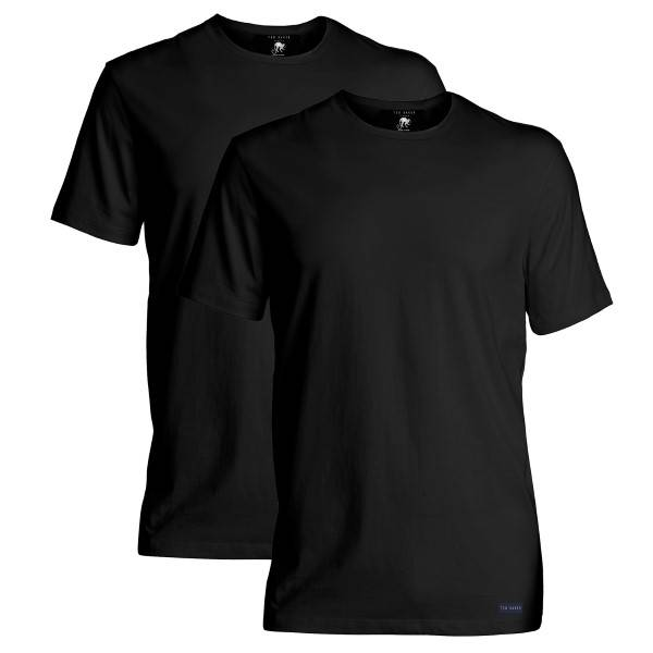 Ted Baker 2 pakkaus Modal Basics Crewneck T-Shirt - Black  - Size: 170738 - Color: musta