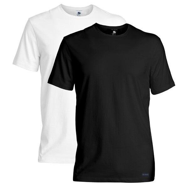 Ted Baker 2 pakkaus Modal Basics Crewneck T-Shirt - Black/White  - Size: 170738 - Color: musta/valk