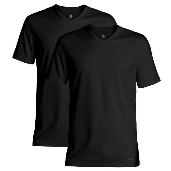 Ted Baker 2 pakkaus Modal Basics V-Neck T-Shirt - Black  - Size: 170739 - Color: musta