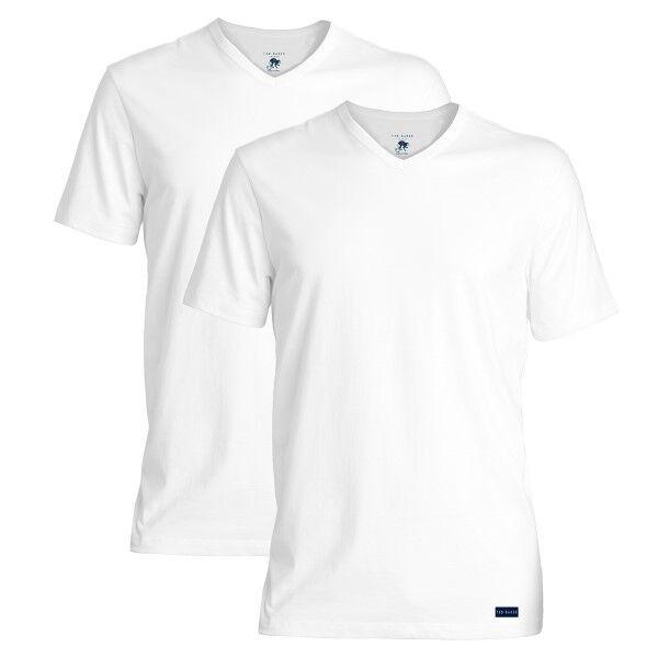 Ted Baker 2 pakkaus Modal Basics V-Neck T-Shirt - White  - Size: 170739 - Color: valkoinen