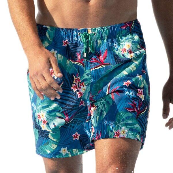 Panos Emporio Escape Swim Shorts - Blue Pattern  - Size: 20302 - Color: Sininen kuvioi